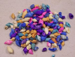 Item #SH009 - Colored Mini Shells