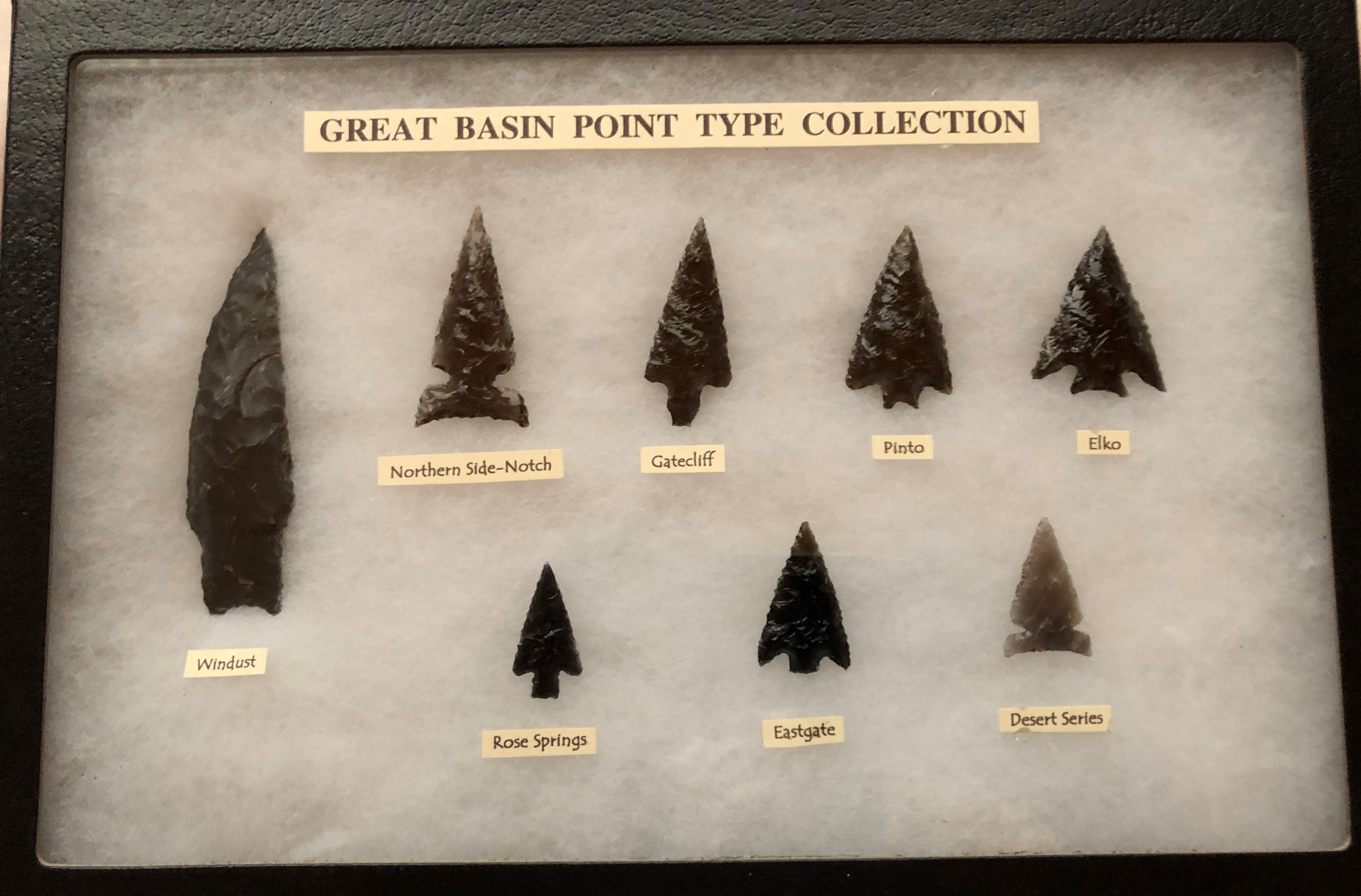 Item #JP105 - Great Basin Arrowhead Type Collection